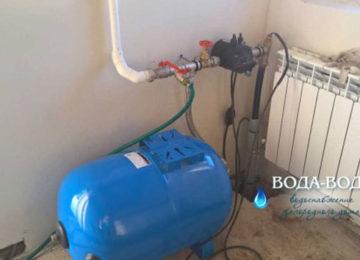 В скважину был установлен погружнойнасосфирмы «Grundfos», клапан автоматического слива воды из магистрали, идущей отскважиныв дом(для консервации скважины на зимний период времени)