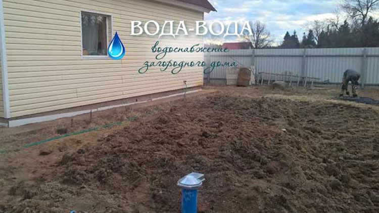 Обустройство скважины в поселке Черемыкино, Л.О. апрель 2016