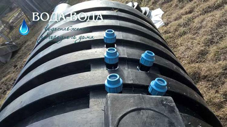 Водоснабжение и водоотведение дома из скважины в д.Капорское